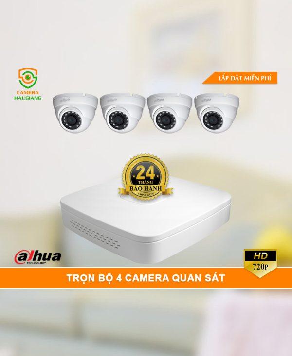 Trọn Bộ 4 Camera Quan Sát Dahua HD