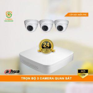 Trọn Bộ 3 Camera Quan Sát Dahua HD
